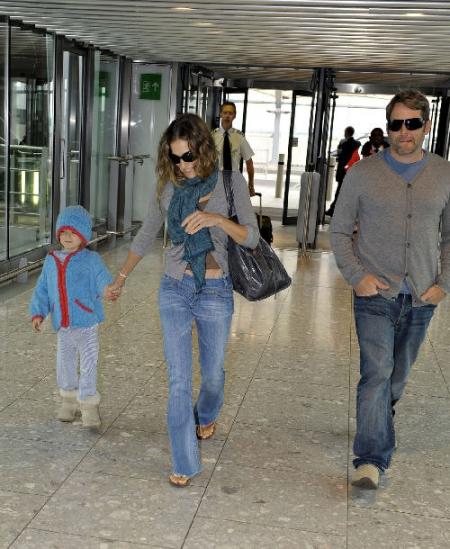 Sarah Jessika Parker und Sohn mit Stiefeln